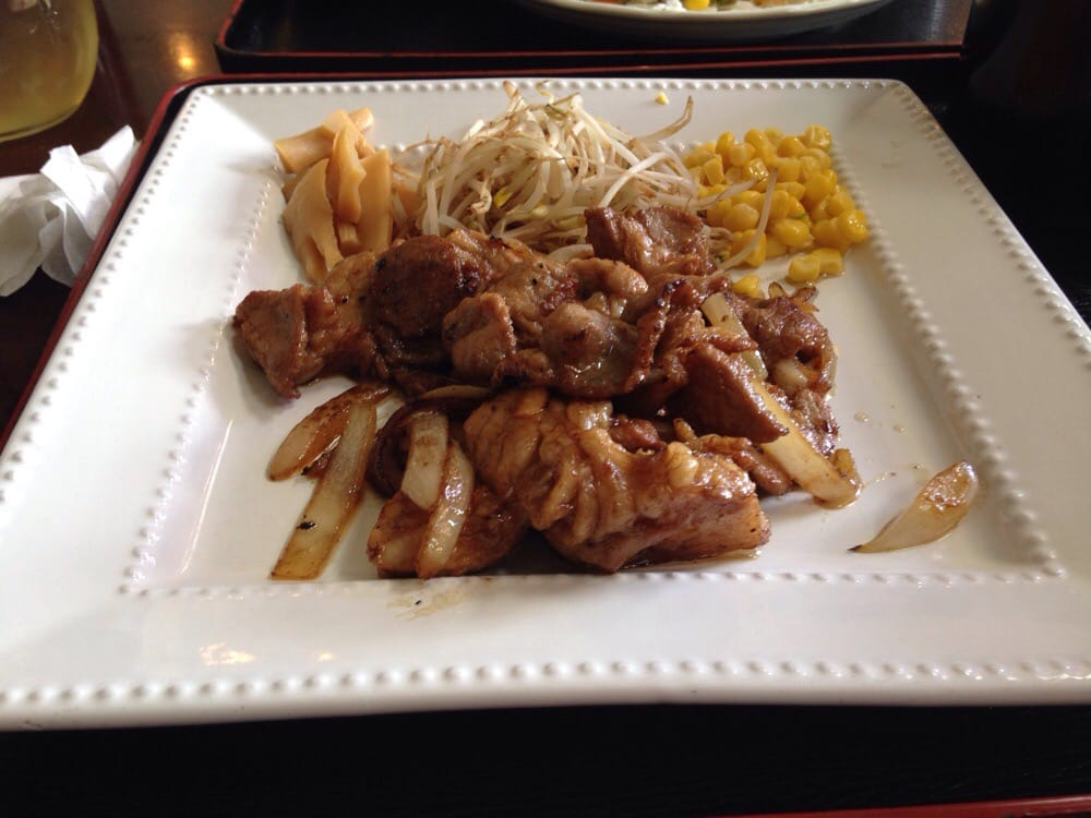 Pork ginger set yelp for Aji 53 japanese cuisine