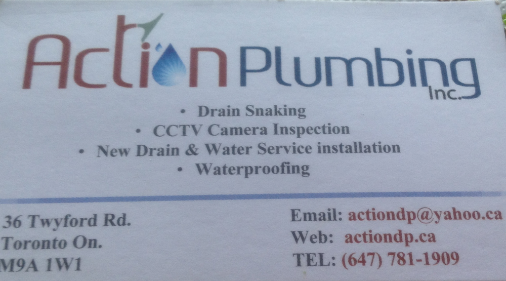 Action Plumbing Business Card - Yelp