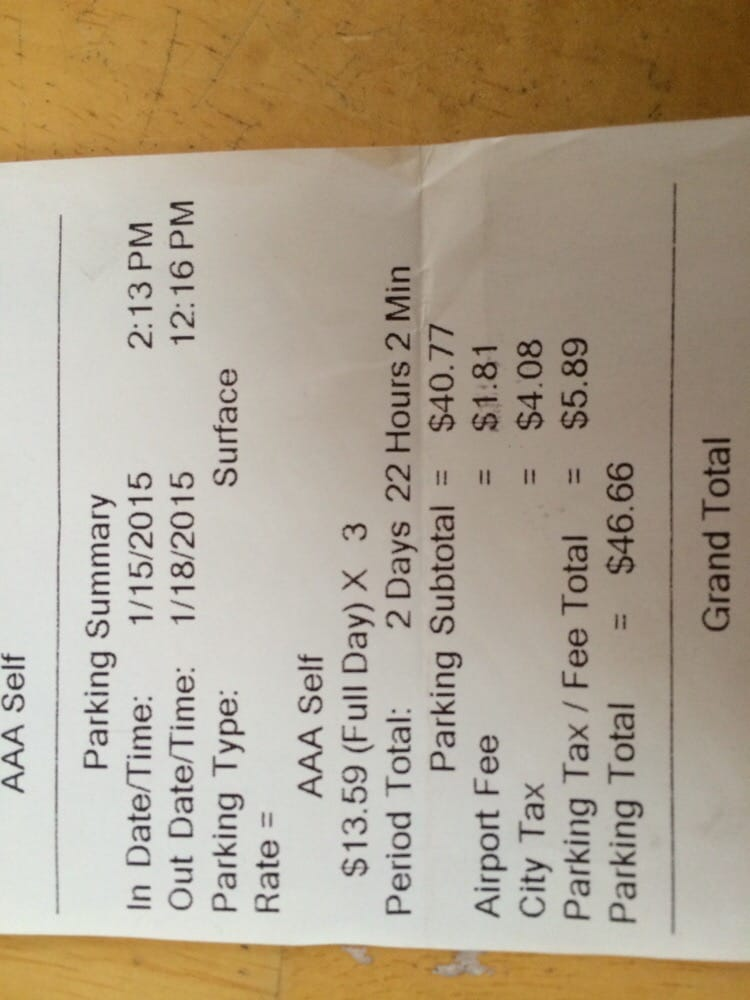 Aaa Careers Ca: Receipt. With AAA Discount $13.59 V Park Place $6.95 It