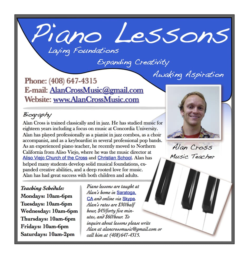 piano lesson flyer related keywords