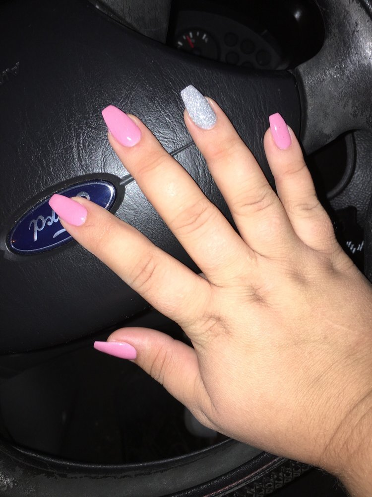 SNS nail dip, Coffin shaped nails - Yelp