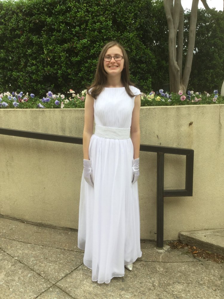 Miss Alla altered this dress in one afternoon so our daughter could ...