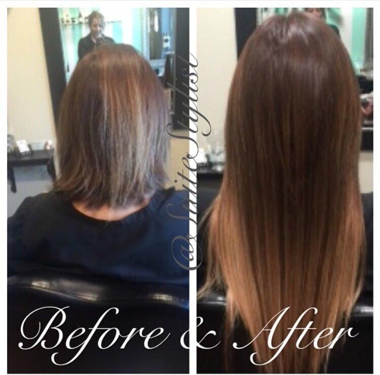 Beautiful Transformation From Short Hair To Long Hair Using I Tip