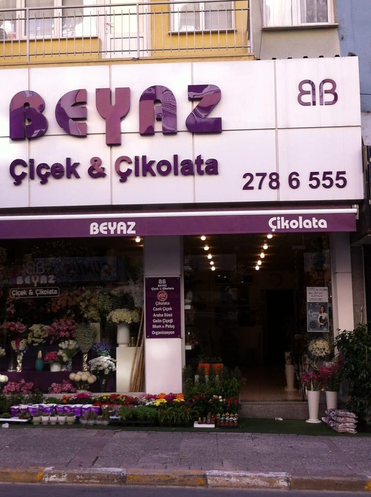 Beyaz Çiçek & Çikolata
