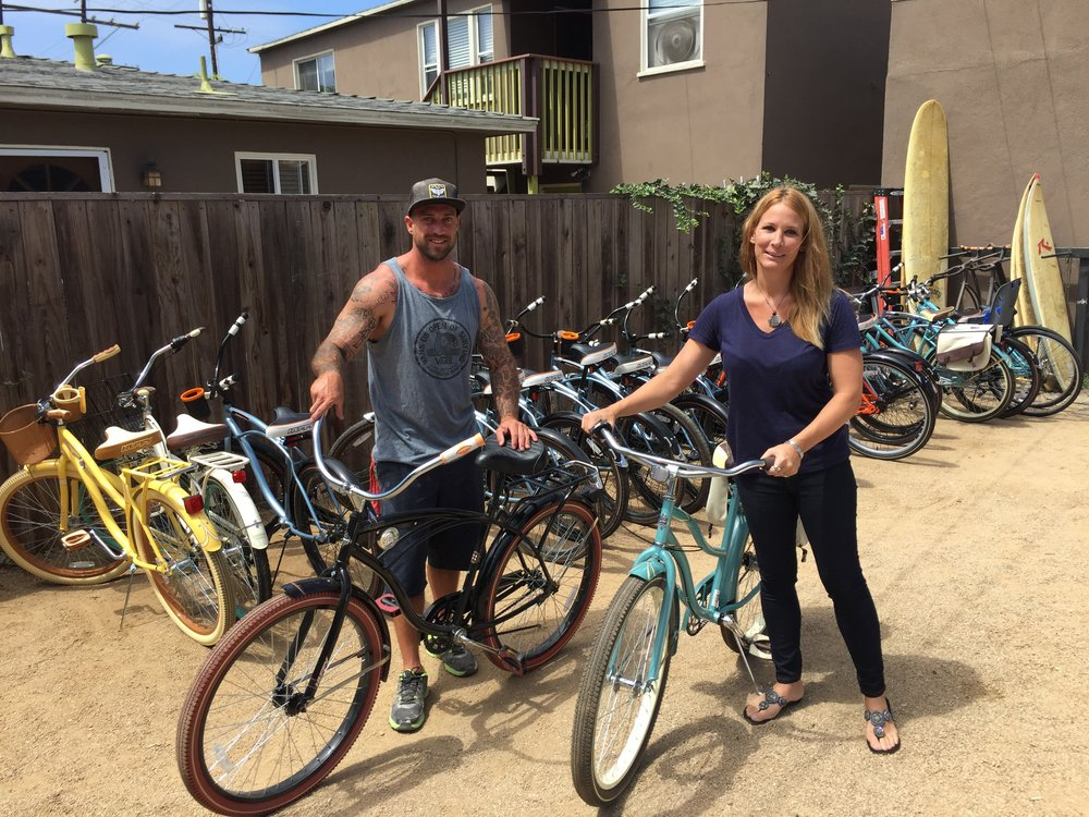 Huntington Beach Bargain Surfboard Bike Rental