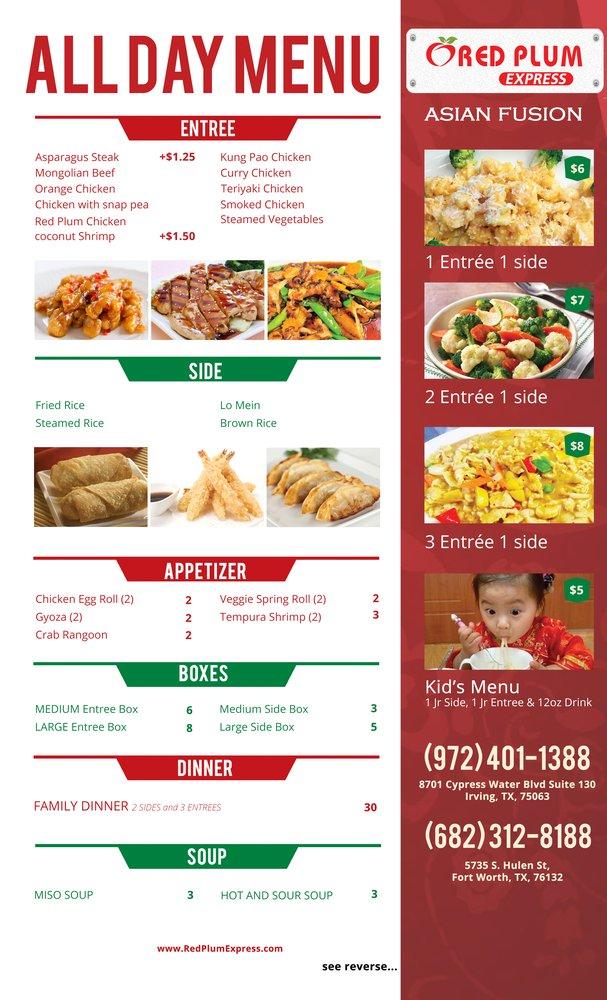 Chinese Food Menu Irving Tx