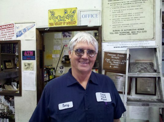 comment from terry f of freeman frame alignment business owner
