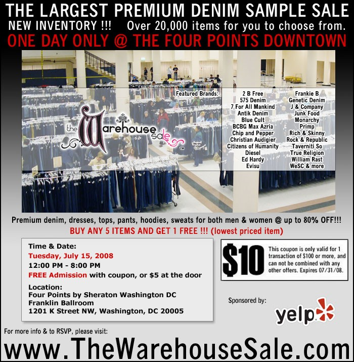 the warehouse sale premium denim sample sale washington dc events yelp - Bcbg Sample Sale