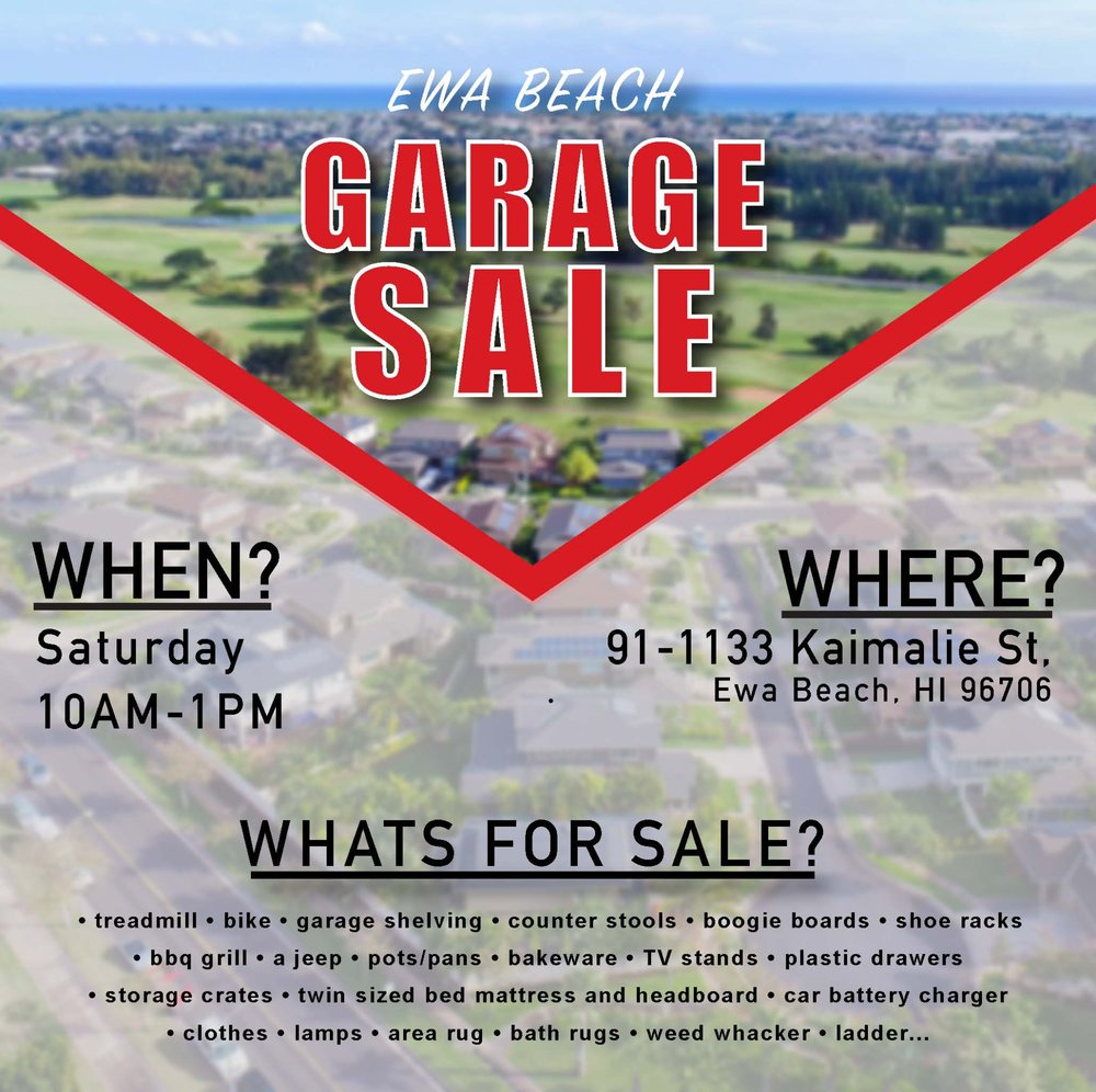 Ewa Beach Garage Sale, Ewa Beach | Events   Yelp