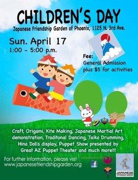 Children S Day At The Japanese Friendship Garden Phoenix Events