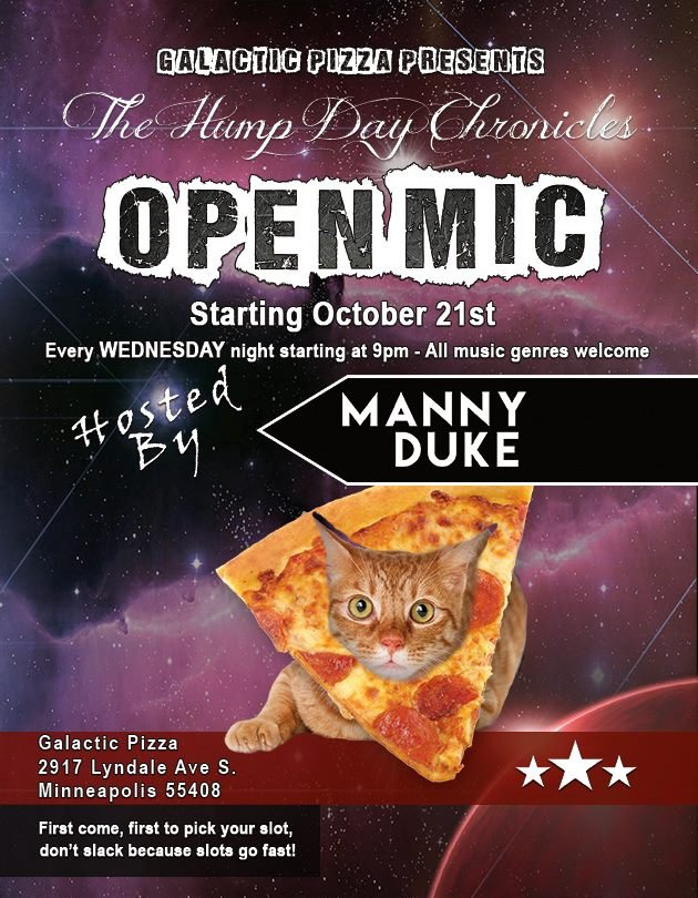 """Hump Day Chronicles"" Open Mic @ Galactic Pizza 
