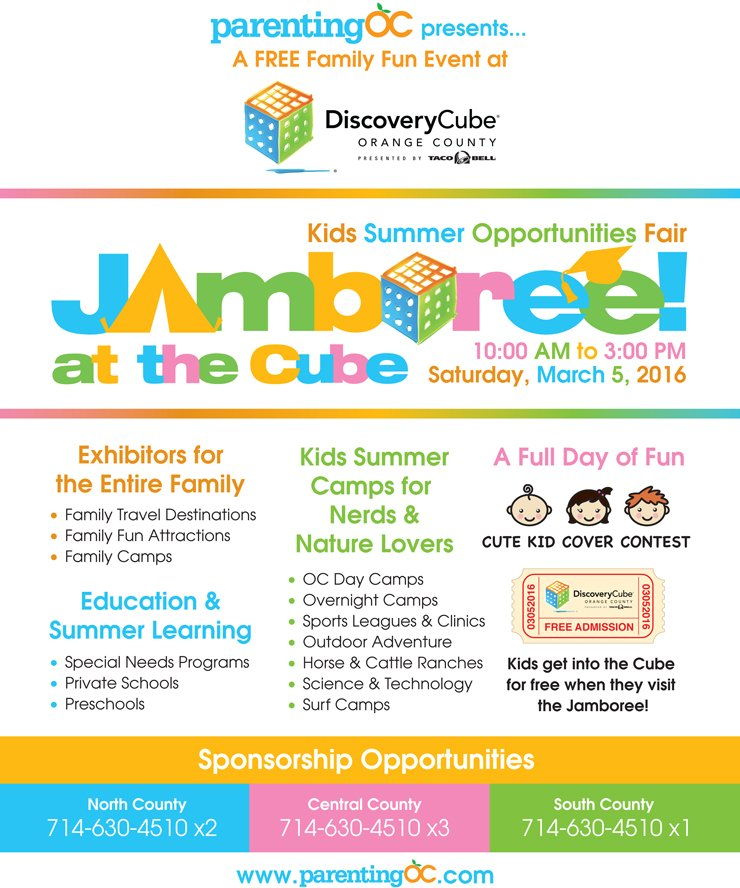 Discovery Cube Coupon >> Kid S Summer Opportunities Fair Jamboree Discovery Cube Oc