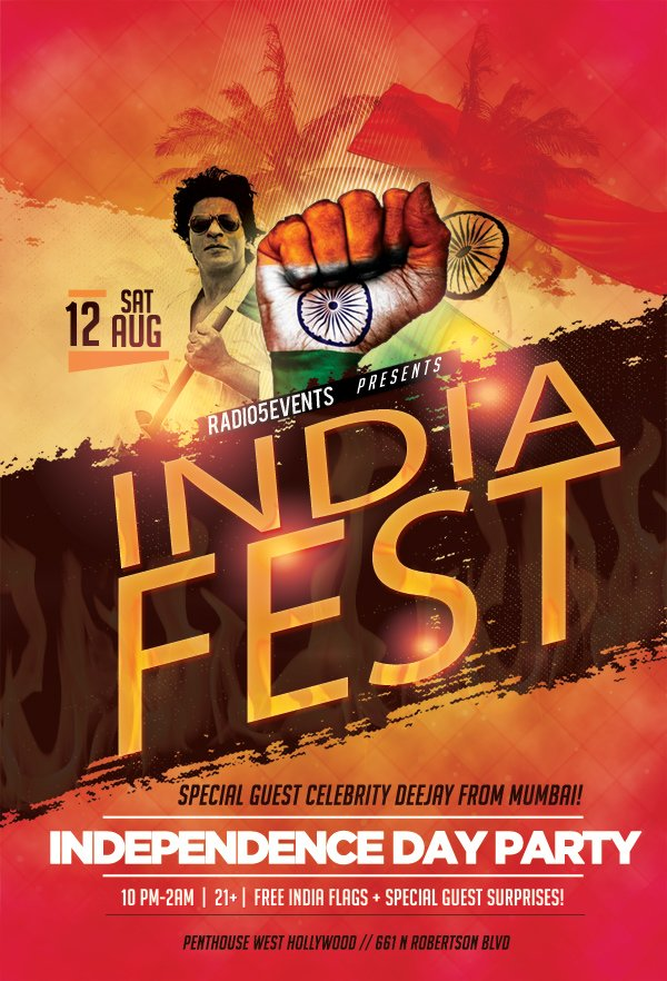 Indiafest   India's Independence Day Party!, West Hollywood